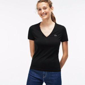 Lacoste Black T-Shirt Size 5/M